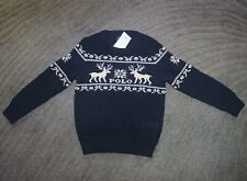 Polo Ralph Lauren Boys Navy Sweater - Size 5 - NWT