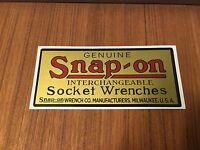 Snap-on Socket Wrenches Decal restore tool boxes vintage rat rod classic old