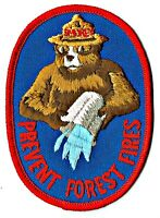 """⫸ Vintage 1983 SMOKEY BEAR w/ PAIL """"Prevent Forest Fires"""" Patch Unused USFS S16"""