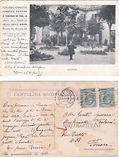 """BOLOGNA: Collegio Convitto Femminile """"S. Vincenzo De' Paoli""""..IL GIARDINO  1916"""