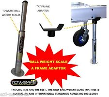 "TOWSAFE TOW BALL WEIGHT SCALES + ""A"" FRAME ADAPTOR CARAVAN TRAILER DRAWBAR"
