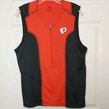 New listing PEARL IZUMI Mens Sleeveless Cycling Jersey - Red/Black - Size Large