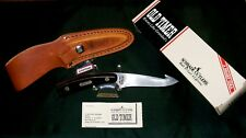 Schrade 158OT Knife & Gun Strap Sheath W/Guthook Old Timer-1980's W/Packaging