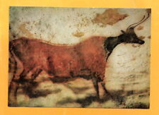 GERMANY VINTAGE POSTCARD BULL IN RED COLOUR - CAVEPAINTING
