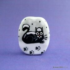 """""""BABY, IT'S COLD OUTSIDE!"""" a handmade lampwork glass CAT focal bead byKayo SRA"""