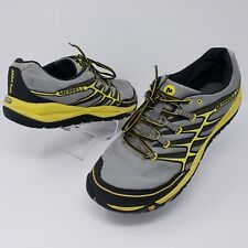 Merrell Mens Unifly All Out Rush Wild Dove/Yellow Trail Running Shoes Size 14