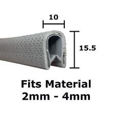Medium Grey Protective edge trim 15.5mm x 10mm for interior or exterior