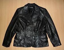 Damen Lederjacke Leder Blazer GERRY WEBER Gr 42 L schwarz Echtleder Top