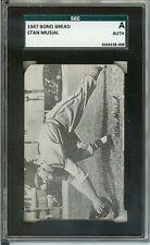 STAN MUSIAL RC 1947 HOMOGENIZED BOND BREAD ROUND CORNER SGC AUTH. CARD