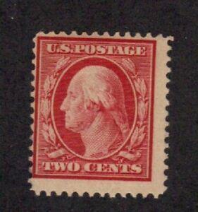 Scott #  332  beautiful single Washington mint never hinged