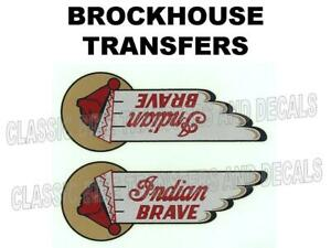 Brockhouse Indian Brave Tank Transfer Classic Motorcycle D20001 v1