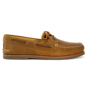 Sperry Top-Sider GOLD CUP Men's A/O 2-Eye Tan/Gum Boat Shoes STS12428 NEW