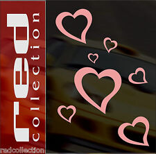 redcollection AUTO AUFKLEBER Car Tattoo 21 Herzen  Sticker