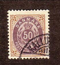 Denmark-#51 Used-1897 Royal Emblem