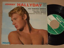 """JOHNNY HALLYDAY -Tes Tendres Annees- 7"""" EP 45"""