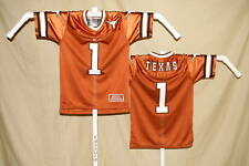 TEXAS LONGHORNS  sewn #1 FOOTBALL JERSEY  Colosseum   Youth Medium  NWT  o
