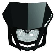 Polisport Lampenmaske LMX mit Halogen-scheinwerfer schwarz