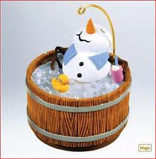 2011 Hallmark HOT HOT HOT Buster Poindexter Ornament MUSIC & LIGHT Snowman Tub
