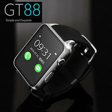Waterproof GT88 GPRS Bluetooth Smart Watch Phone Mate For iphone Android Silver
