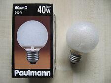 RAREZA Paulmann Globe E27 40W G60 240V CRISTAL DE HIELO Globelampe CLARO
