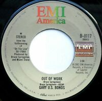 "GARY U.S. BONDS  Out Of Work / Bring Her Back/With Picture Sleeve 7"" 45rpm 1982"