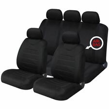 Black Mesh Full Set Front & Rear Car Seat Covers for Dodge Ram All Years