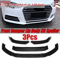 For Audi A4 Sedan 2017 2018 Matte Front Bumper Lip Body Kit Spiltter Spoiler