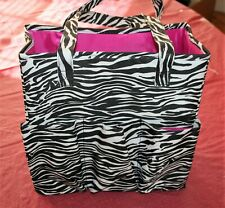 RARE ZEBRA STRIPES / Everything Mary Teachers Tote EVM-8864-4, PINK INT.