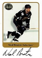 Neal Broten 2001-02 Fleer Greats of the Game Autograph Card