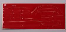 Pocher 1:8 Ferrari Aufkleber Set F40 neu rot N19