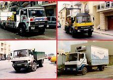 Malta Transport ~ 4 Bedford TL Trucks - Tipper: Skip: Pepsi: Milk - late 1990s