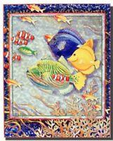 Coral Reef Exotic Tropical Ocean Fish Wall Decor Art Print Poster (16x20)