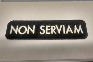 """Non Serviam Latin Phrase """"I will not serve"""" Embroidered Stoicism Philosophy"""