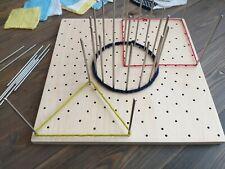 Crochet Blocking Board Granny Square Circle Motif  Wooden Blocker Handmade