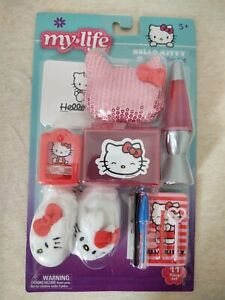 Barbie Fashionistas Choose Pick Set 31 Hello Kitty Phone Purse Hat Accessories