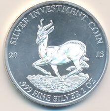 LION 2013 3 Silver Ounces Gabon 2000 Francs CFA Antique Finish 3 Oz Coin
