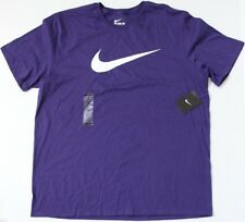 Nike Mens Athletic Cut Purple Short Sleeve Logo Tee Shirt Size 2XL NWT