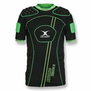 GILBERT atomic zenon V2 rugby shoulder pads [black/green]