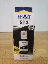 EPSON 512 EcoTank Ink Ultra-high Capacity Bottle Black, 140ml exp. 08/2024