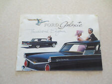 Original 1959 Ford Galaxie cars advertising booklet