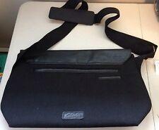 Clarks Crossbody Messenger/Shoulder Black Canvas w/ Leather Bag