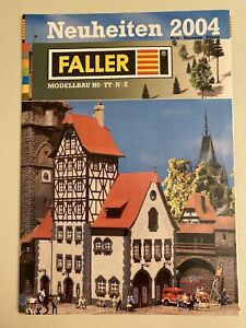 Faller Prospekt Heft Modellbau Neuheiten 2004 HO TT N Z 43 Seiten Broschüre Alt