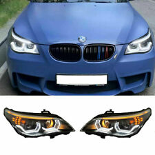 For BMW 5 Series E60 LED Headlights Projector DRL 2006-2010 Replace OEM Halogen