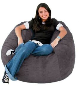 """1 PC Gray Velvet Bean Bag Cover XXl 48"""" x 48"""" x 34"""" (inch) [Without Beans]"""