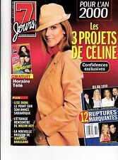 Celine Dion Rare 7 Jours Magazine January 2000 Vol 11 Las Vegas + Free Celine