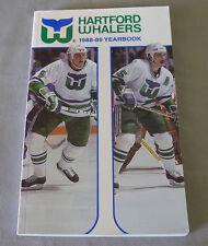 Original NHL Hartford Whalers 1988-89 Official Hockey Media Guide