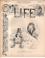 1899 Life October 12-War clouds in South Africa;Zola; Dewey;Cut Aguinaldo's head