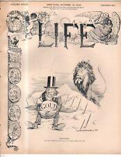1899 Life October 12-War clouds in South Africa;Zola; Dewey;Cut Aguinaldo's head