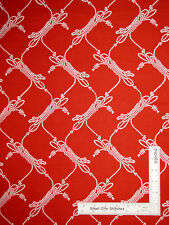 Nautical Rope Knot Toss Red Cotton Fabric Anna Griffin CF2704-1 Seafarer - Yard