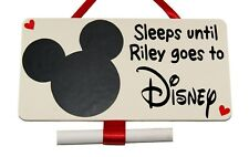 Personalised Disney Holiday Countdown plaque Handmade wooden blackboard Plaque